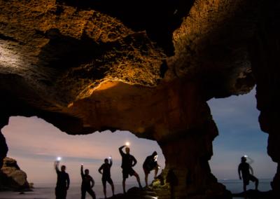 Cave trip at dusk
