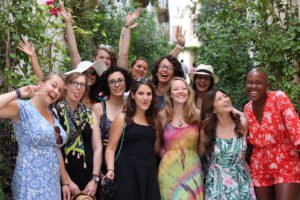 Group photo of the first Digital Nomad Girls Retreat