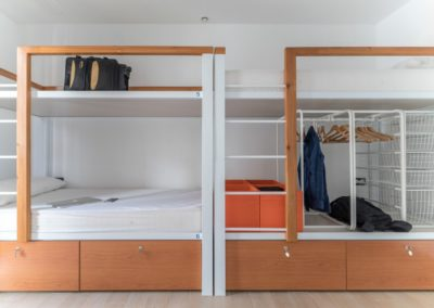 Spacious rooms with storage