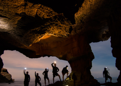 Cave trip at dusk