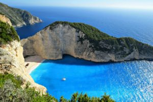 greece coboat zakynthos island sailing with digital nomad girls
