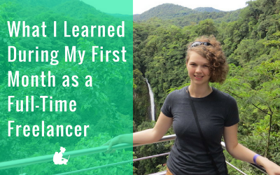 What I Learned During My First Month as a Full-Time Freelancer