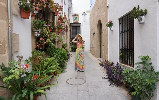 Cute street in the old town of Javea