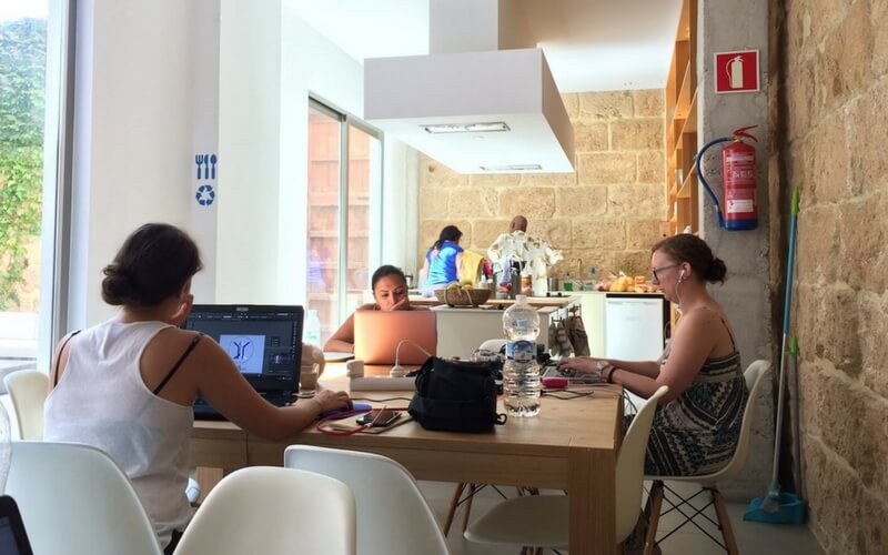 Open Plan Work Space at Sun and Co
