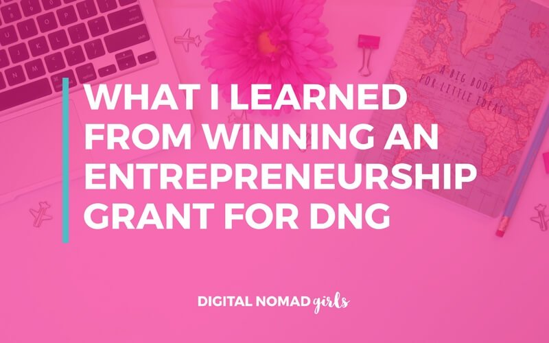 What I learned from winning an entrepreneurship grant for DNG