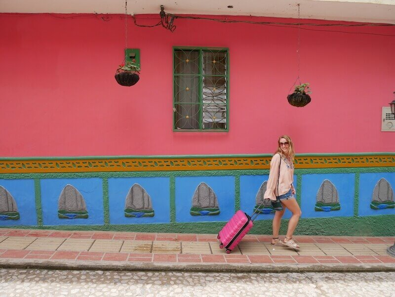 Antler Juno 2 Review Jenny in Guatape Pink wall