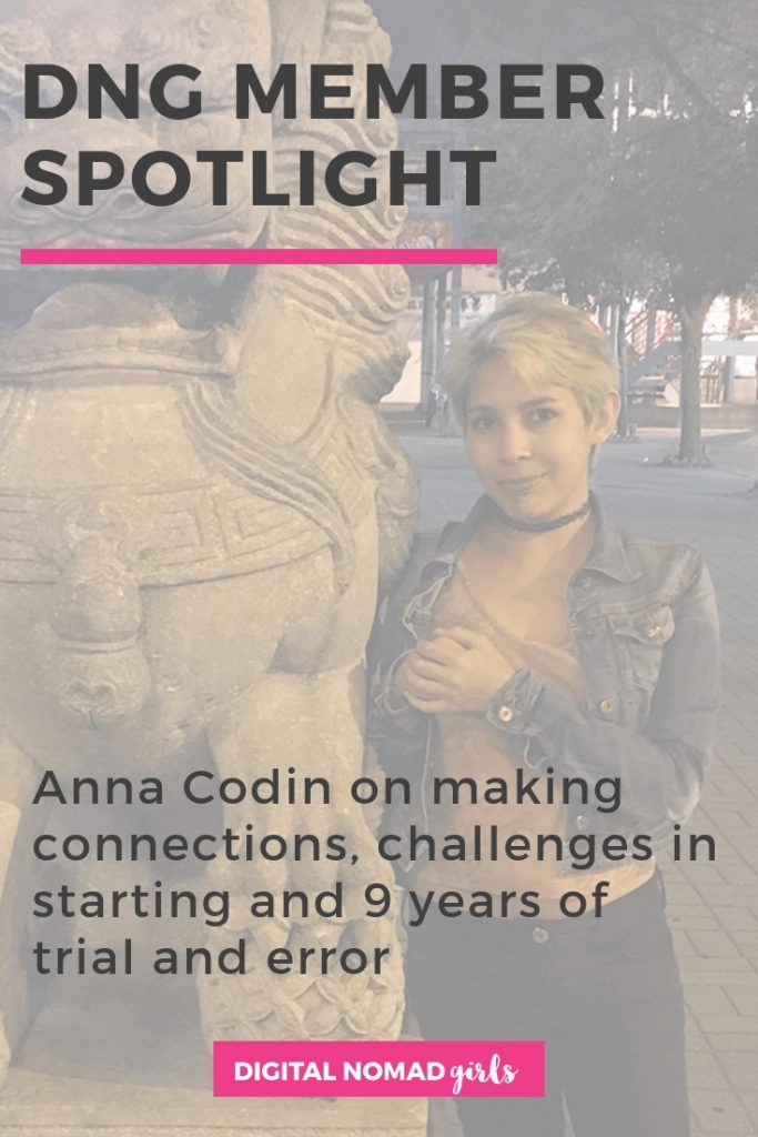 Member Spotlight Anna Coding Digital Nomad Girls Pin