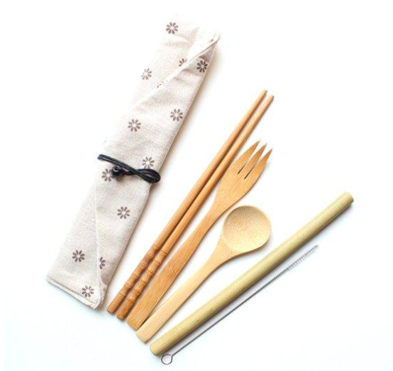 Bamboo Utensil To-Go Set gift guide digital nomad girls