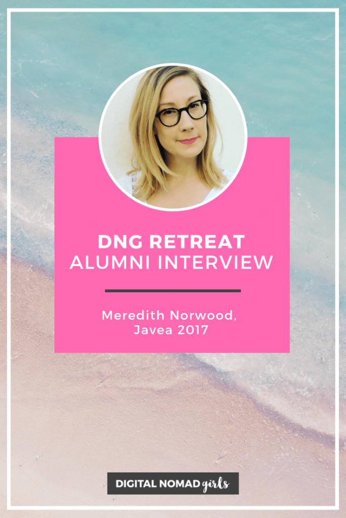 Meredith norwood digital nomad girls retreat