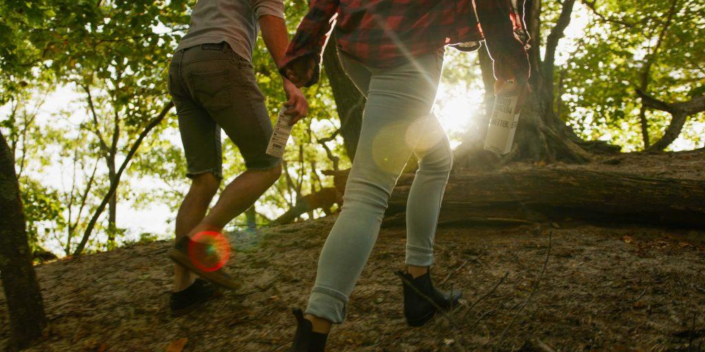 girls hiking friendship travel