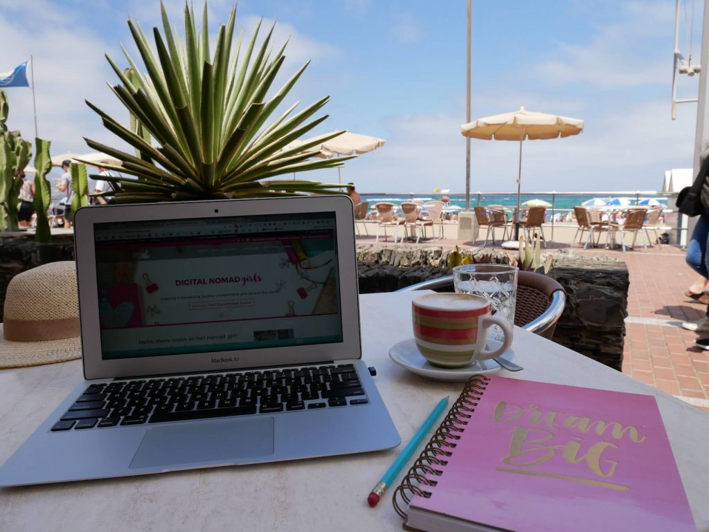Las Palmas for Digital Nomad Girls Beach Cafe Office