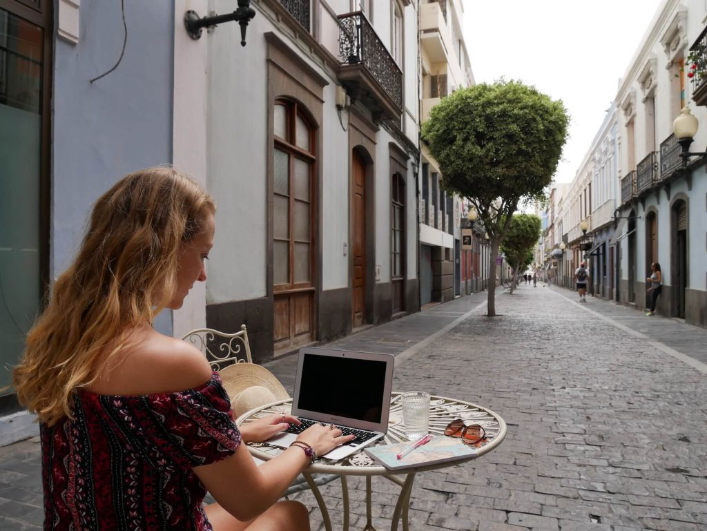 Las Palmas for Digital Nomad Girls Old Town Cafe 2