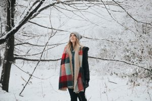 digital nomad girls woman in snow