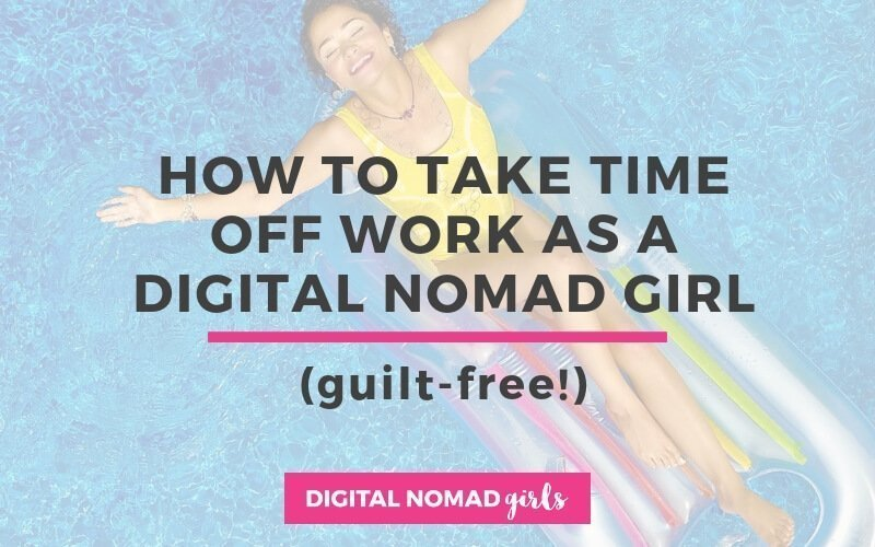digital nomad girl on holiday